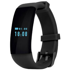 D21 Sport Watch Bluetooth Smart Fitness Bracelet Wristband for Android Black