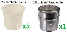 Paint Kettle, Metal Tin, Bucket, Plastic Insert, Painting and Decorating, Tools