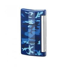 S.T. Dupont MiniJet Torch Flame Lighter, Blue Camouflage, 10088, New In Box