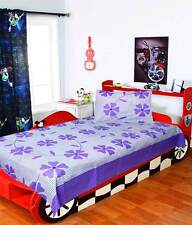 SA Collection's Purple Premium Cotton Single Bedsheet with 1 Pillow Cover