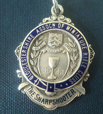 Silver Shooting Medal 1932 Gloucestershire Association Of Miniature Rifle Clubs
