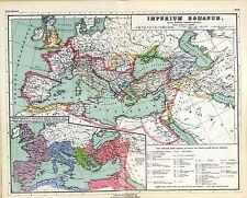 1903 old antique map ANCIENT WORLD empire IMPERIAL ROME Roman extent insert 12