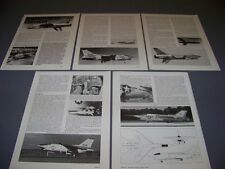 VINTAGE..VOUGHT F8U-3 CRUSADER ....STORY/HISTORY/3-VIEWS...RARE! (29D)