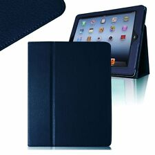 Slim Fit Leather Stand Case Cover for Apple Ipad 2 Ipad 3 and Ipad 4 - Dark Blue
