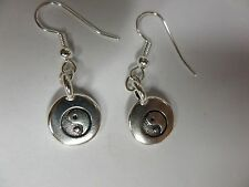 Silver Yin Yang Dangle earrings 0024-1