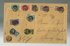 1908 Saint Louis Senegal Oversize Cover to Marne France # 70 Multi Franking