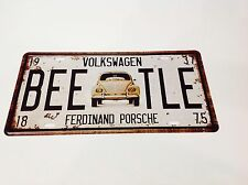 VOLKSWAGEN BEETLE CAR LICENCE PLATE/Beatle Wall Decor Vintage Sign Tin Plaque