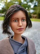 Jyn Erso Star Wars OOAK Repaint Barbie Poseable Custom Felicity Jones Doll Rogue