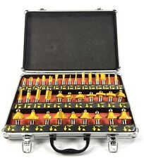"ROUTER BITS SET - 35 pc 1/2"" inch Shank CARBIDE KIT ALUMINUM CASE SAE New"