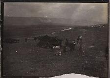 Campement des bédouins Voyage en Moyen-Orient 1909 Vintage silver 6x9cm