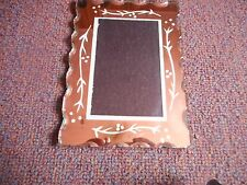 ANTIQUE ETCHED GLASS MIRRORED PICTURE FRAME EST 1930s