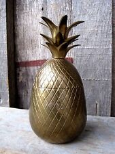 PETITE VINTAGE MID CENTURY PINEAPPLE TRINKET BOX HOME & GARDEN CANDLE HOLDER