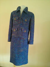 Amazing Miss V by Valentino Multi color purple Tweed Skirt Suit in Size 40/6