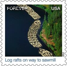 US 4710g Earthscapes Log rafts on way to sawmill forever single MNH 2012