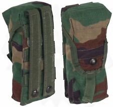 M16 M4 AR-15 A2 Mag Pouch Woodland (BDU) Camo set of 2(Two) MOLLE II Double