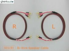 S01Bw (1m 3ft) --- Pair HIFI Bi-Wire Canare Star Quad Speaker Audio Cable Banana