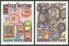 UN (NY) 1983 Human Rights 35th/Art/Paintings/Abstract/Animation 2v set (n27791)