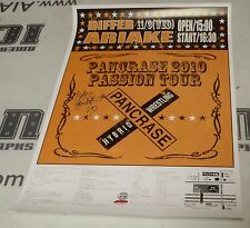 Isao Kobayashi Signed Pancrase MMA Passion Tour 10 Official Event Poster 2010
