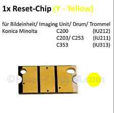 Reset Chip (Y/ Yellow) für Imaging Unit Bildtrommel - Bizhub C200 C203 C253 C353