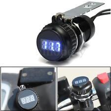 Waterproof Motorcycle Bike LED USB Power Socket Charger Voltmeter Voltage Gauge