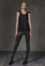 NWT Alexis Shawn Legging  with Exposed Elastic Black size M $198