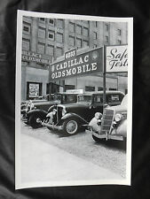 """12 By 18"""" Black & White Picture - abt. 1936 Cadillac / Oldsmobile Dealer"""