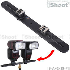 Camera Holder/Flash Bracket+2*Hot Shoe Mount Adapter for Canon 600EX/580EX/430EX