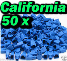 Lot 50 x set RJ45 Connector Cat5 Modular End Cap Boot Head Plug Cat6 Cable 5E