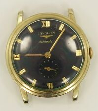 1950s Longines Automatic 17J 19A 10K Gold Filled Wrist Watch Running Project W4