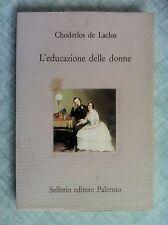 L'educazione delle donne di Choderlos de Laclos Il divano 8 Ed.Sellerio 1990