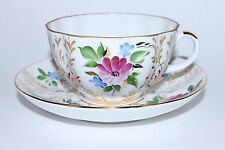 Russian Imperial Lomonosov Porcelain Tea cup and saucer Golden Herbs Russia Rare