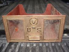 Vintage US Post Office PO Mail Box No. 9 - Brass Door & Bin w/ Lock