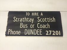 """Scottish Vintage Bus Blind Dundee Area 27""""- To Hire Strathay Bus Or Coach 27201"""