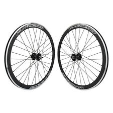 700C Alloy Fixed Gear/Freewheel Double Wall Wheel Pair BLK/MSW - PAIR