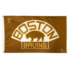 BOSTON BRUINS VINTAGE LOGO 3'X5' DELUXE FLAG BRAND NEW FREE SHIPPING WINCRAFT