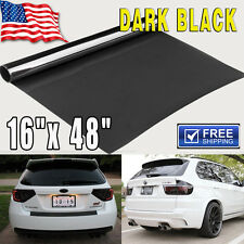 "Gloss Dark Black Smoke Headlight Taillight Fog Light Tint Film Vinyl - 16""x 48"""