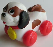 LOOSE McDonald's Fisher Price 1996 Under 3 BROWN WHITE ROLY PUPPY Sgl Toy Grp E
