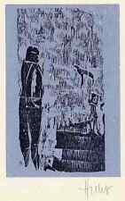 Das MÄRCHEN vom VOGEL - Dieter HUTHMACHER OriginalHolzschnitt handsigniert 1988
