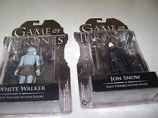 "Game of Thrones Funko White Walker and Jon Snow 3 1/2"" Action Figures NIP"