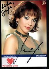 Mariangela Scelsi Verbotene Liebe Autogrammkarte Original Signiert ## BC 23879