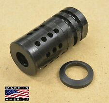 1/2-28 FXC-1 Short Muzzle Brake Compensator 223/5.56/22 LR + Free Crush Washer