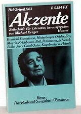 AKZENTE - Zeitschrift für Literatur Heft 2 / 1983 - Renga/Paz/Sanguineti