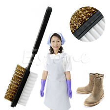 A Shape 2 Side Shoe Cleaning Brush Suede Nubuck Boot Shoes Cleaner New