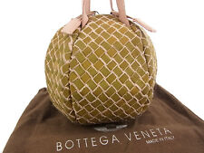 BOTTEGA VENETA RARE!! Logos Intrecciato Leather Small Hand Bag 13538eSaB