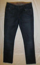 RICH & SKINNY in BROKEN IN skinny ankle stretchy distressed scuffed jeans 25