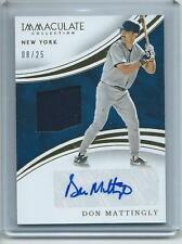 2016 Immaculate BB #IAM-DM Don Mattingly NY Yankees AUTOGRAPH MATERIALS #/25!!