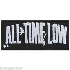 ALL TIME LOW Band Logo Sew Embroidered Iron on Patch Jacket T Shirt Vest #S010
