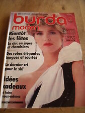 MAGAZINE BURDA MODEN LE CHIC EN JUPES ROBES ELEGANTES  11/1983