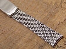 Vintage NOS Stainless XXL Bulova Accutron Mesh watch band bracelet Extra Long