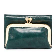 NWT! HOBO INTERNATIONAL Robin Trifold Wallet Clutch Hunter Green $88